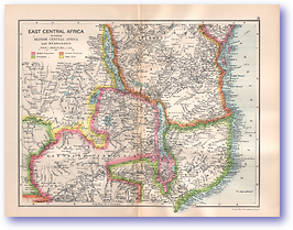 East Central Africa - 1895 (Castle Line Atlas of South Africa - Published: 1895) 1200 DPI