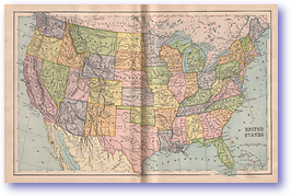 United States - 1901 (Mitchells New Intermediate Geography - Pennsylvania Edition - Published: 1901)
