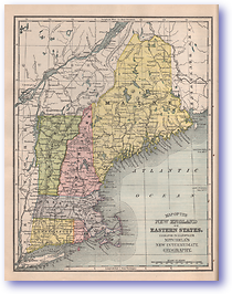 New England Or Eastern States - 1901 (Mitchells New Intermediate Geography - Pennsylvania Edition - Published: 1901)