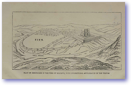Jerusalem - Time of Solomon (Hand Book of Bible Geography - Published: 1870) 600 DPI