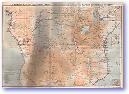 A Mission Map of Equatorial Africa - 1892 (Centenary Vol of the Baptist Missionary Society 1792-1892 - Published: 1892) 1200 DPI