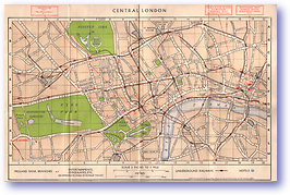 Central London Showing Midland Bank Branches - Circa 1950 (Unknown - Published: 1950) 1200 DPI