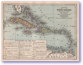 West Indies - 1901 (Mitchells New Intermediate Geography - Pennsylvania Edition - Published: 1901) 1200 DPI