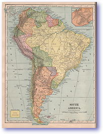 South America - 1901 (Mitchells New Intermediate Geography - Pennsylvania Edition - Published: 1901) 1200 DPI