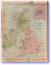 British Isles - 1901 (Mitchells New Intermediate Geography - Pennsylvania Edition - Published: 1901)