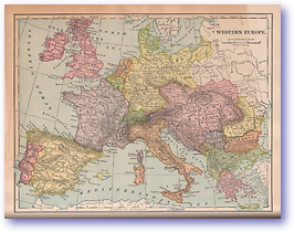 Western Europe - 1901 (Mitchells New Intermediate Geography - Pennsylvania Edition - Published: 1901) 1200 DPI