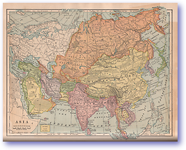 Asia - 1901 (Mitchells New Intermediate Geography - Pennsylvania Edition - Published: 1901) 1200 DPI