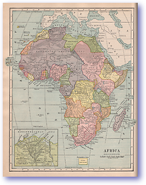 Africa - 1901 (Mitchells New Intermediate Geography - Pennsylvania Edition - Published: 1901) 1200 DPI