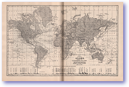 The Globe - 1901 (Mitchells New Intermediate Geography - Pennsylvania Edition - Published: 1901) 1200 DPI