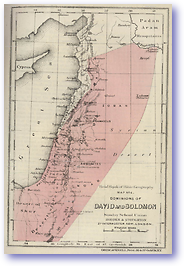 The Dominions of David and Solomon - Old Testament (Hand Book of Bible Geography - Published: 1870) 600 DPI