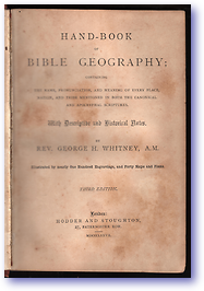 Hand Book of Bible Geography (Cover) - Published: 1870
