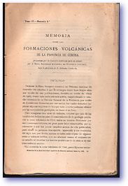 Gerona Area Volcanoes (Cover) - Published: 1906