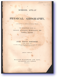 Keith Johnston's Physical School Atlas (Cover) - Published: 1852