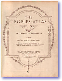 Peoples' Atlas (Cover) - Published: 1920