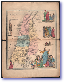 Palestine - Time of Christ (Pictorial Bible Atlas - Published: 1856) 1200 DPI