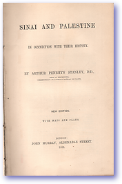 Sinai and Palestine (Cover) - Published: 1883