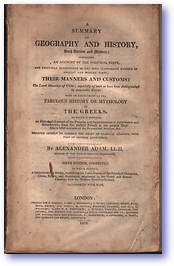 Adam's Geography (Cover) - Published: 1824