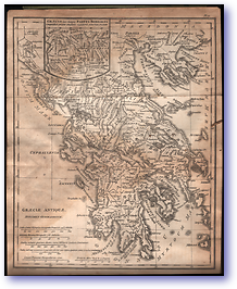Graecia Antiqua - Roman Empire (Adam's Geography - Published: 1824) 1200 DPI
