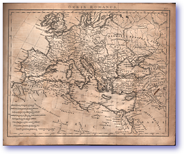 Orbis Romanus - Roman Empire (Adam's Geography - Published: 1824) 1200 DPI