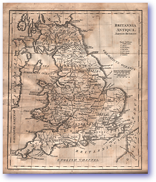 Britannia Antiqua - Roman Empire (Adam's Geography - Published: 1824) 1200 DPI