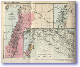 Dominion of Solomon - Time of Solomon (Hand Book of Bible Geography - Published: 1870) 600 DPI