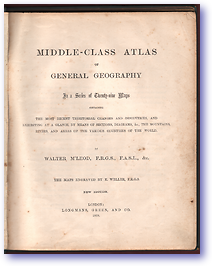Mcleod's Middle-class Atlas (Cover) - Published: 1868