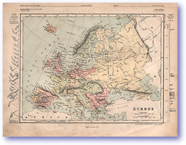 Europe - 1868 (Mcleod's Middle-class Atlas - Published: 1868) 1200 DPI