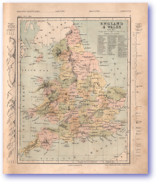 England and Wales - 1868 (Mcleod's Middle-class Atlas - Published: 1868) 1200 DPI