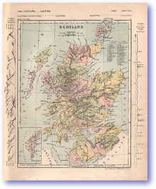 Scotland - 1868 (Mcleod's Middle-class Atlas - Published: 1868) 1200 DPI