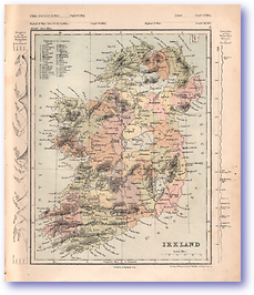 Ireland - 1868 (Mcleod's Middle-class Atlas - Published: 1868) 1200 DPI