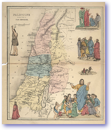 Palestine - Time of Christ (Pictorial Bible Atlas - Published: 1856) 600 DPI
