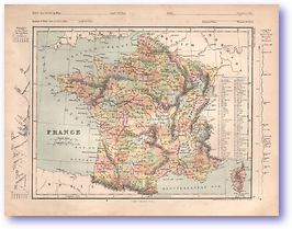 France - 1868 (Mcleod's Middle-class Atlas - Published: 1868) 1200 DPI