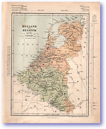 Holland and Belgium - 1868 (Mcleod's Middle-class Atlas - Published: 1868) 1200 DPI