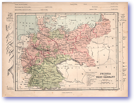 Prussia and West Germany - 1868 (Mcleod's Middle-class Atlas - Published: 1868) 1200 DPI