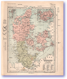Denmark - 1868 (Mcleod's Middle-class Atlas - Published: 1868) 1200 DPI