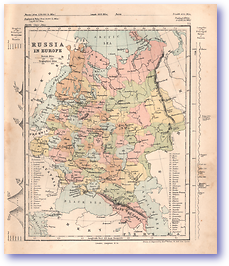 Russia in Europe - 1868 (Mcleod's Middle-class Atlas - Published: 1868) 1200 DPI