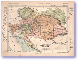 Austrian Empire - 1868 (Mcleod's Middle-class Atlas - Published: 1868) 1200 DPI