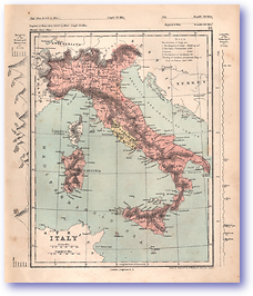 Italy - 1868 (Mcleod's Middle-class Atlas - Published: 1868) 1200 DPI