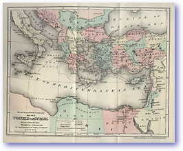 Travels of St Paul - AD (Hand Book of Bible Geography - Published: 1870)
