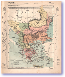 Turkey in Europe and Greece - 1868 (Mcleod's Middle-class Atlas - Published: 1868) 1200 DPI