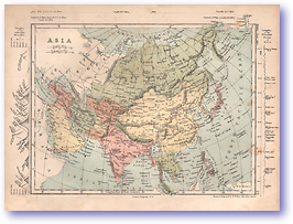 Asia - 1868 (Mcleod's Middle-class Atlas - Published: 1868) 1200 DPI