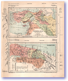 Turkey in Asia and Palestine - 1868 (Mcleod's Middle-class Atlas - Published: 1868) 1200 DPI