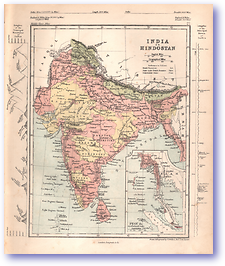 India Or Hindostan - 1868 (Mcleod's Middle-class Atlas - Published: 1868) 1200 DPI