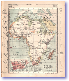Africa and Part of Arabia - 1868 (Mcleod's Middle-class Atlas - Published: 1868) 1200 DPI