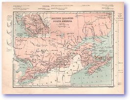British Colonies in North America - 1868 (Mcleod's Middle-class Atlas - Published: 1868) 1200 DPI