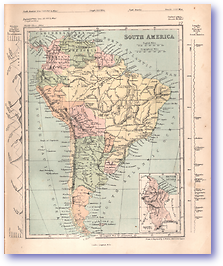 South America - 1868 (Mcleod's Middle-class Atlas - Published: 1868) 1200 DPI