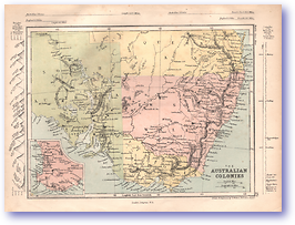Australian Colonies - 1868 (Mcleod's Middle-class Atlas - Published: 1868) 1200 DPI