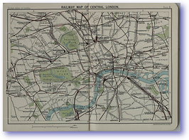 Central London Railways - 1922 (Pocket Atlas and Guide to London - Published: 1922)
