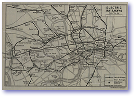 Electric Railways - 1922 (Pocket Atlas and Guide to London - Published: 1922)