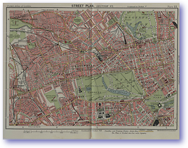 Kensington and Notting Hill - 1922 (Pocket Atlas and Guide to London - Published: 1922) 600 DPI